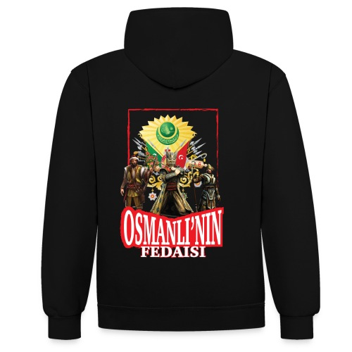 Osmanli Fedaisi - Kontrast-Hoodie