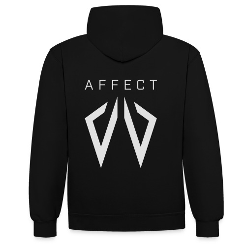 Affect Wear Logo white - Kontrast-Hoodie