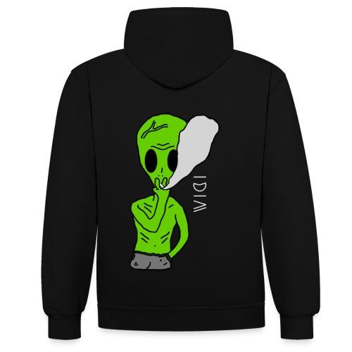 Hoodie Alien - Sweat-shirt contraste