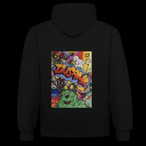 Insane - Kontrast-Hoodie