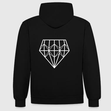 diamant - Kontrast-hættetrøje