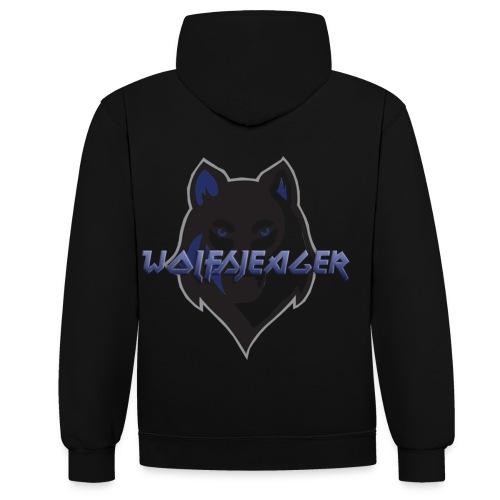 WolfsJeager - Kontrast-Hoodie