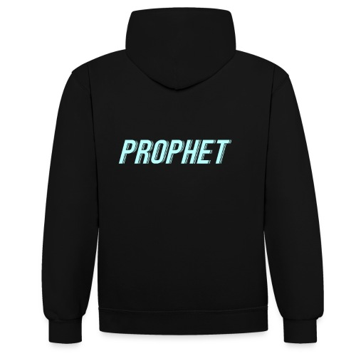 prophet_blue_scaled_smaller - Contrast Colour Hoodie