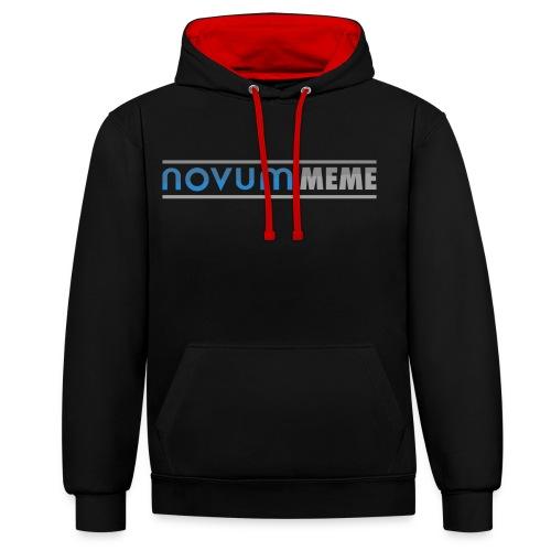 Novummeme trui - Contrast hoodie