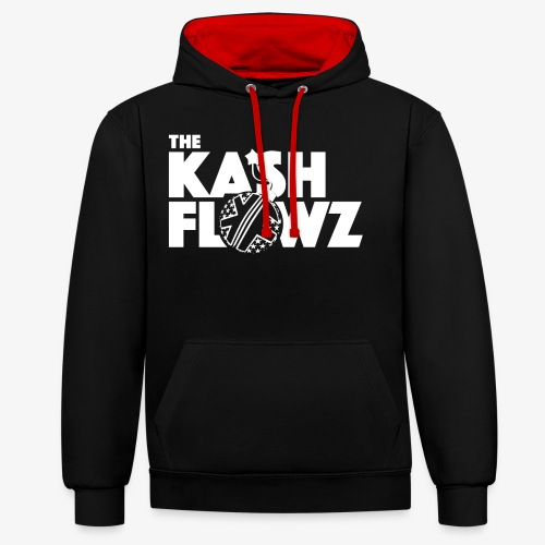The Kash Flowz Official Bomb White - Sweat-shirt contraste