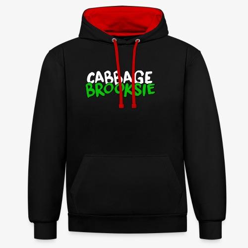 cabbagebrooksie logo v2 - Contrast Colour Hoodie