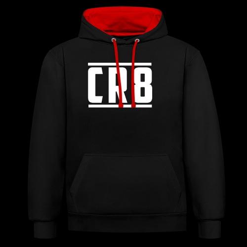 CR8 Hoodie - Black - Contrast Colour Hoodie