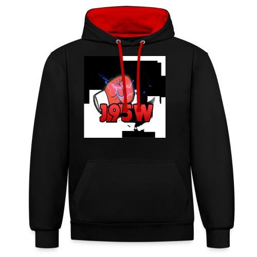 J95W Boxing Smash Design - Contrast Colour Hoodie