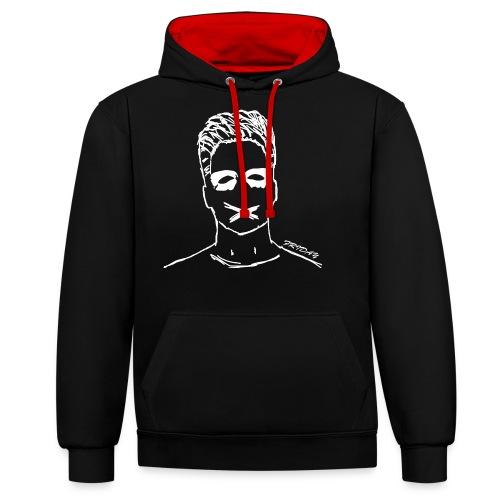 The Friday Kleidung - Kontrast-Hoodie