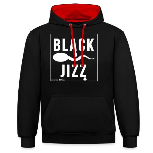 black jizz - Kontrast-Hoodie