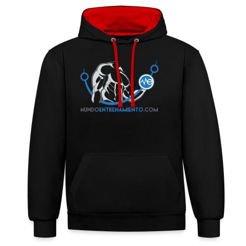Camiseta de deporte MundoEntrenamiento.com - Sudadera con capucha en contraste