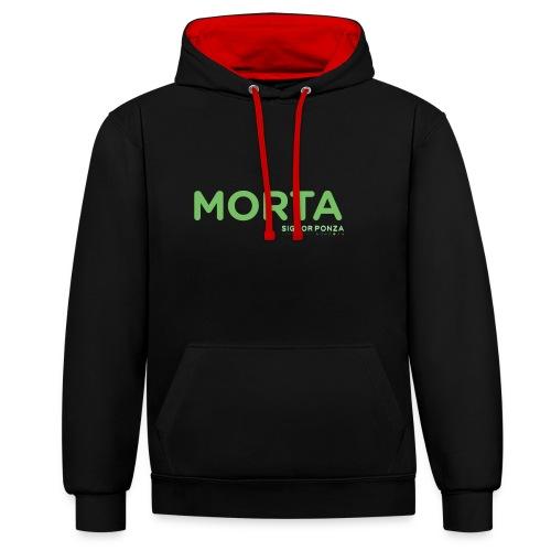 MORTA - Felpa con cappuccio bicromatica