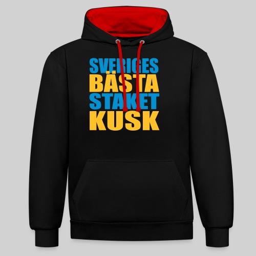 Sveriges bästa staketkusk! - Kontrastluvtröja