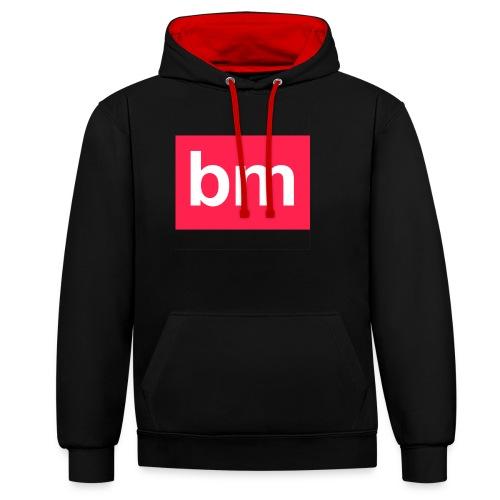 bm - bad monkeys! - Kontrast-Hoodie