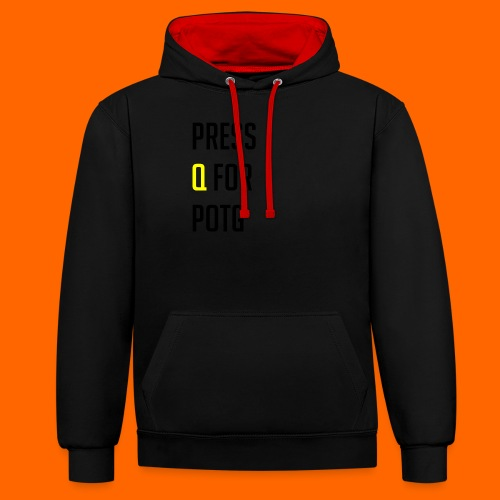Press Q for play of the game - Contrast Colour Hoodie