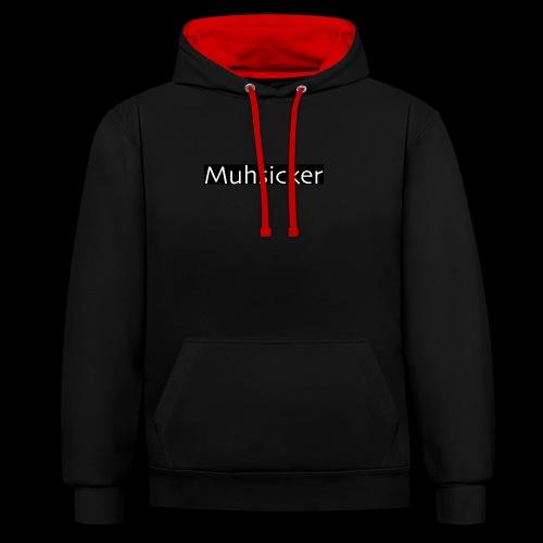 Muhsicker - Kontrast-Hoodie