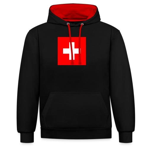 Flag_of_Switzerland - Kontrast-Hoodie