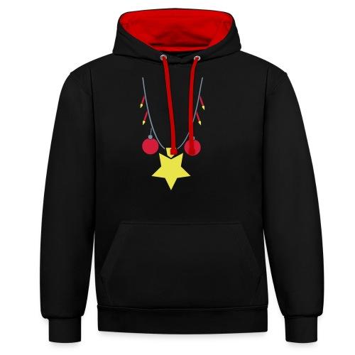 Xmas Swag: Weihnachtskette - Kontrast-Hoodie