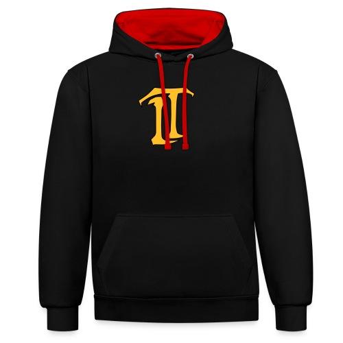 IT Premium Logo - Kontrast-Hoodie
