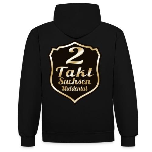 2 Takt Sachsen/ Muldental Merchandising - Kontrast-Hoodie