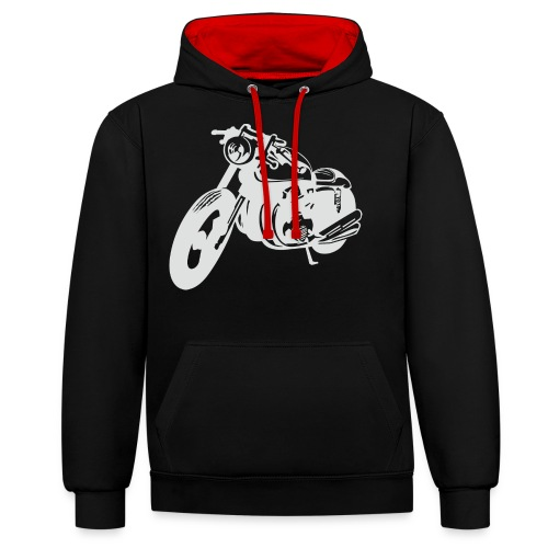 Cafe Racer -Keep it simple - Kontrast-Hoodie