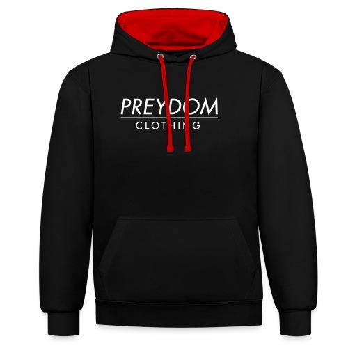 PREYDOM CLOTHING - Clean logo design - Kontrast-hættetrøje