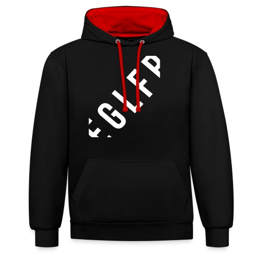 Eaglefire big Text - Kontrast-Hoodie