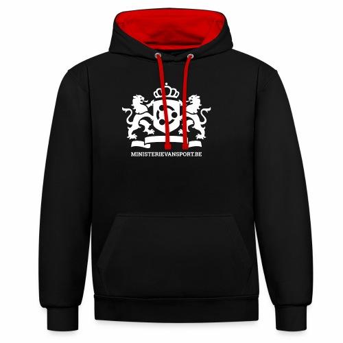 Ministerie van Sport Logo - Contrast hoodie