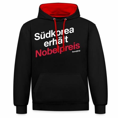Südkorea erhält Nobelpreis - Kontrast-Hoodie