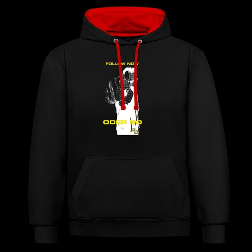 Swite Follow Oder So - Kontrast-Hoodie