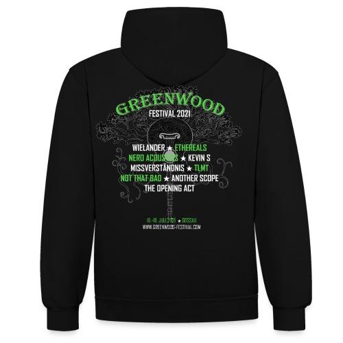 Greenwood Bands 2021 - Kontrast-Hoodie
