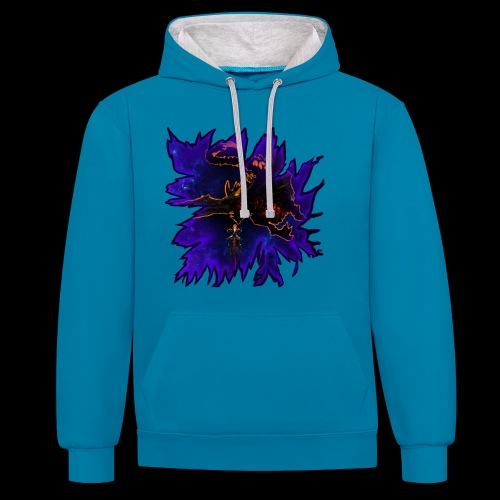 Galaxy dragon and DXTHGXD - Contrast Colour Hoodie