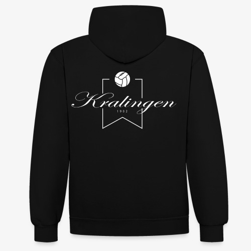 Kralingen wit png - Contrast hoodie