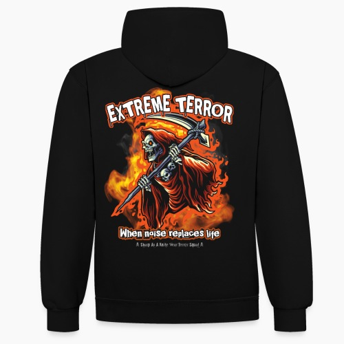 Extreme Terror - Contrast Colour Hoodie