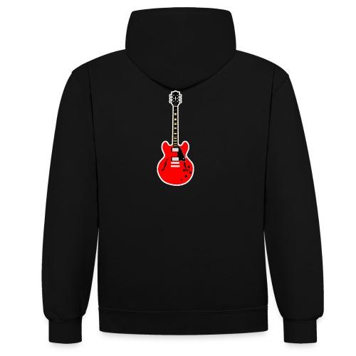Guitare dos / Vully Blues classique poitrine - Kontrast-Hoodie