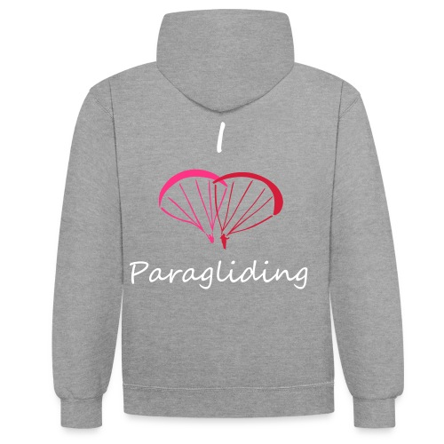 I Love Paragliding V2 - Contrast Colour Hoodie