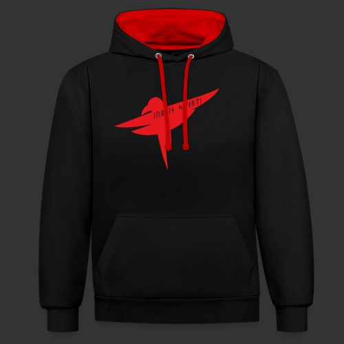 Raven Red - Contrast Colour Hoodie