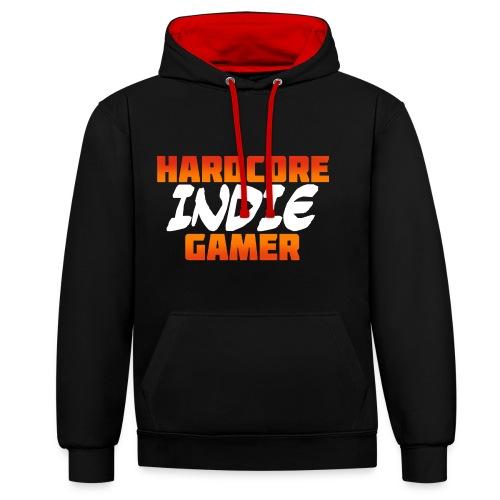 H_rdcore Indie Gamer - Kontrast-Hoodie