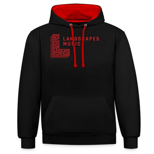 Landscapes Music - W/R - Contrast Colour Hoodie