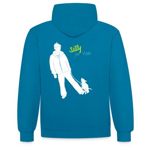 Silly Walk png - Kontrast-Hoodie