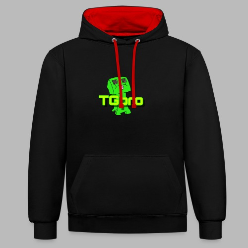 TGpro Creeper logo - Contrast Colour Hoodie