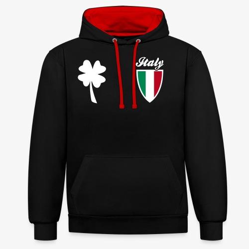 Italia Emblema sport 3C - Felpa con cappuccio bicromatica