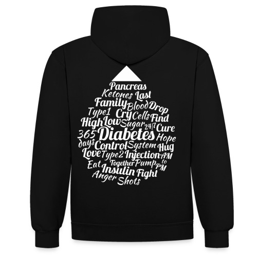CURE DIABETES - Contrast Colour Hoodie