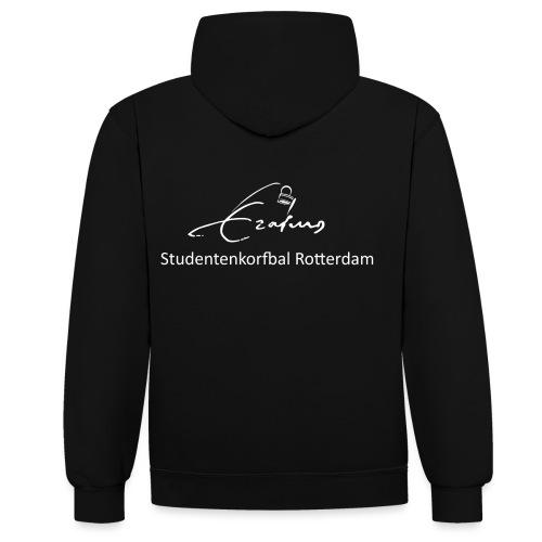 Erasmus Korfbal wit - Contrast hoodie