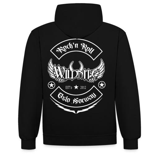 Wildnite 2020 - shirt no grunge - Kontrast-hettegenser