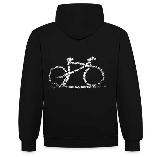 bike3_large - Contrast Colour Hoodie