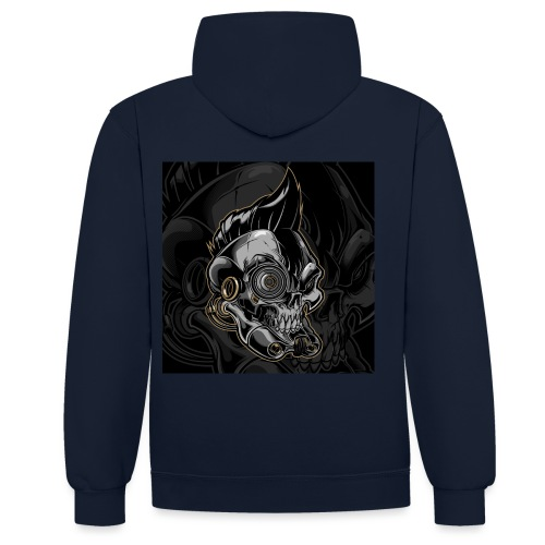 Nareku logo with background - Contrast Colour Hoodie