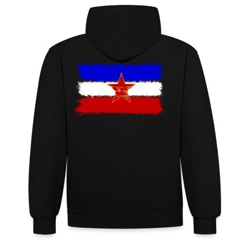 Jugoslawien Flagge - Kontrast-Hoodie