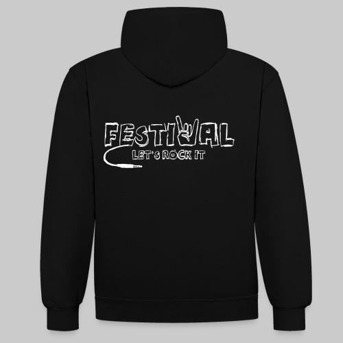 Festival, Let's Rock It - Kontrast-Hoodie