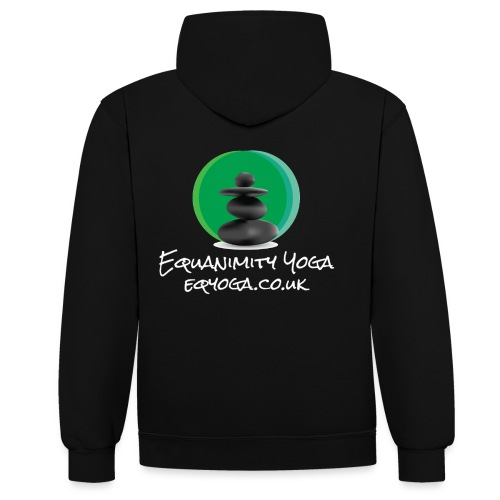 Equanimity Yoga Logo White text - Contrast Colour Hoodie
